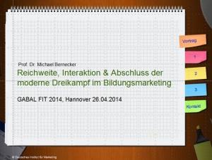 Vortrag Bernecker Bildungsmarketing